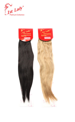 1st Lady Euro Silky Straight Human Hair Weft  20""