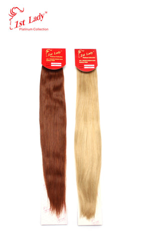 1st Lady Euro Silky Straight Human Hair Weft  22-24""