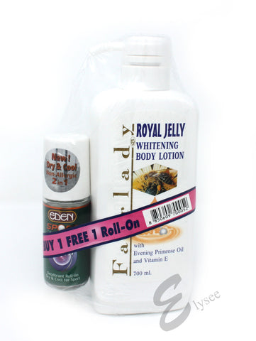 Fair Lady Royal Jelly Whitening Body Lotion + free Eden roll-on - Elysee Star