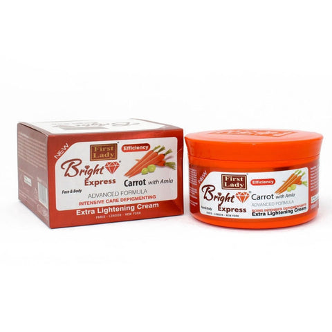 First Lady Bright Express Carrot with Amla Extra Lightening Face & Body Cream jar - Elysee Star