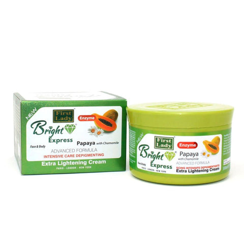 First Lady Bright Express Papaya with Chamomile Extra Lightening Face & Body Cream jar - Elysee Star