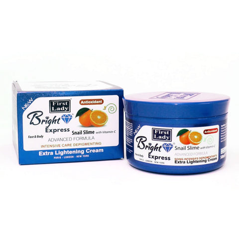 First Lady Bright Express Snail Slime with Vitamin C Extra Lightening Face & Body Cream - Elysee Star