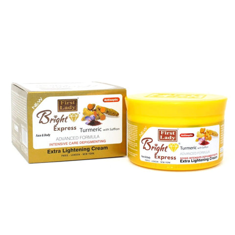 First Lady Bright Express Turmeric with Saffron  Extra Lightening Face & Body Cream Jar - Elysee Star