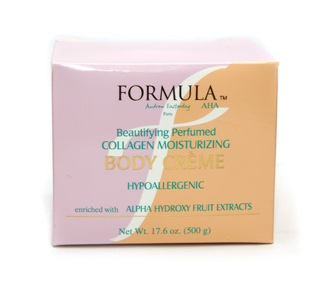 Formula Beautifying Perfumed Collagen Moisturizing Body Cream Jar - Elysee Star