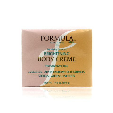Formula Beautifying Perfumed Brightening Body Creme jar