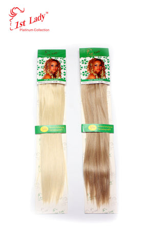 "1st Lady Futura Silky Straight Synthetic Clip-On 18"" Hair Extensions"" (8Pc) - Elysee Star"