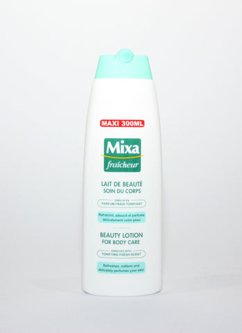 Mixa Beauty lotion with tonifying fresh cent (green)
