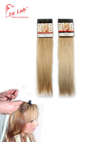 "1st Lady Natural Euro Human Hair Blended Clip on Hair Extensions 22"" (8Pcs) - Elysee Star"