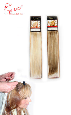 "1st Lady Natural Euro Silky Straight Clip-On 18"" (12pcs)"