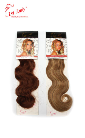 "1st Lady Natural Italian Wave - Blended Human Hair Weft 14"" - Elysee Star"