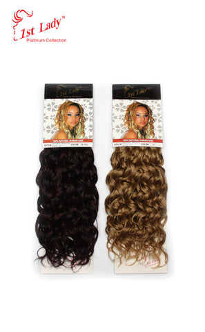 "1st Lady Natural Spanish Blended Human Hair Weft 14"" - Elysee Star"