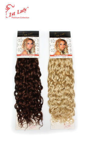 "1st Lady Natural Spanish Blended Human Hair Weft 18"" - Elysee Star"