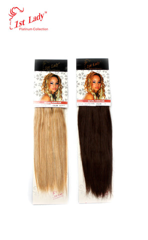 "1st Lady Natural Euro Silky Straight Blended Human Hair Weft 10"" - Elysee Star"