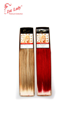 "1st Lady Natural Euro Silky Straight Blended Human Hair Weft 14"" - Elysee Star"