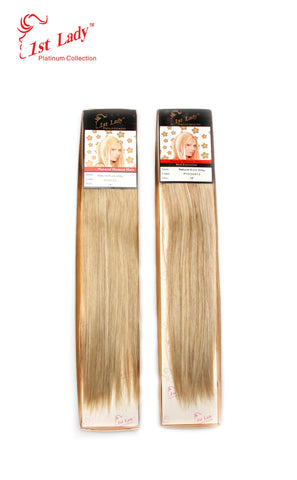 1st Lady Natural Euro Silky Straight Weft 18""