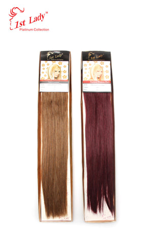 "1st Lady Natural Euro Silky Straight Blended Human Hair Weft 20"" - Elysee Star"
