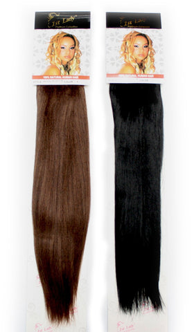 "1st Lady Natural Yaki Blended Human Hair Weft 18"" - Elysee Star"