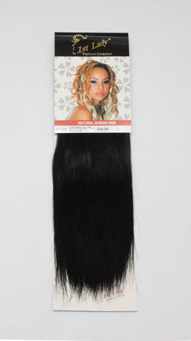 1st Lady Natural Euro Silky Straight Weft 10""
