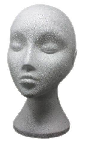 Polystyrene foam Mannequin Heads for wigs & hats - Elysee Star