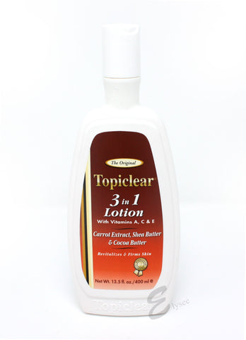 Topiclear 3-in-1 Lotion with vitamins A, C & E - Elysee Star