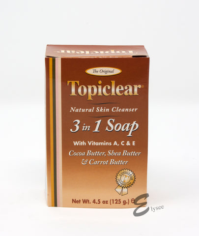 Topiclear 3in1 Soap with vitamins A,C & E - Elysee Star