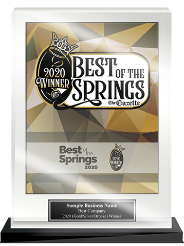 Best of the Springs Acrylic Desktop Award