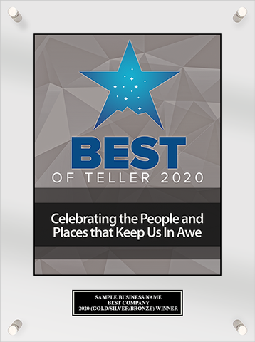 Best of Teller 2020 Acrylic Plaque