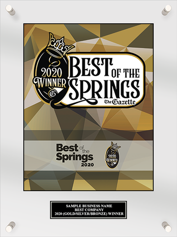 Best of the Springs 2020 Acrylic Plaque