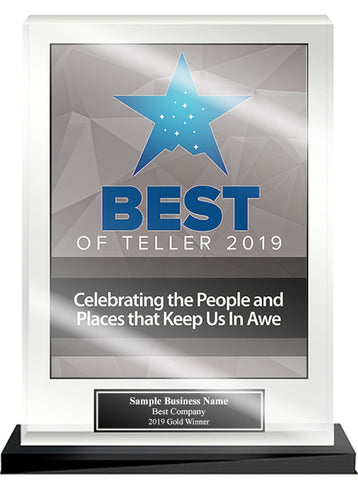 Best of Teller Acrylic Desktop Award