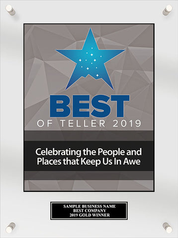 Best of Teller Acrylic Plaque