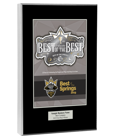 Best of the Best & BOTS 2019 Plaque