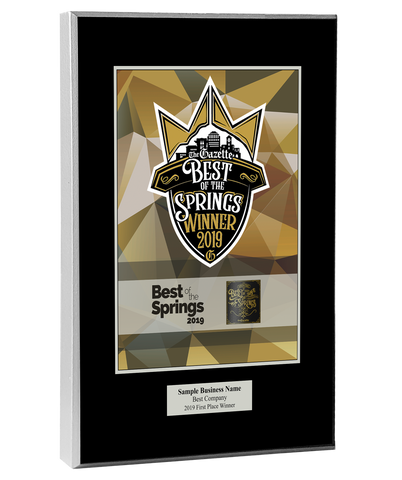 Best of the Springs 2019 Plaque