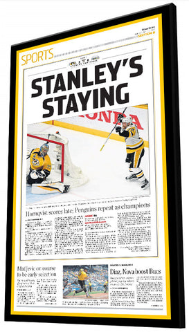 "2017 ""STANLEY'S STAYING!"" Championship Plaque"