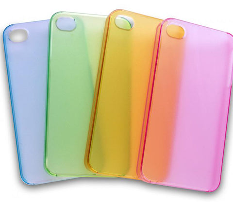 RAINBOW Plain iPhone 4 / 4s Clip-On Hard Back Case Cover