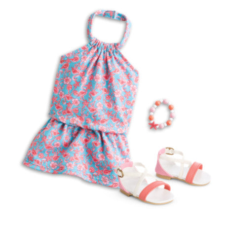 American Girl - Flamingo Beach Dress for Dolls - Truly Me 2015