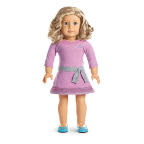 American Girl - Truly Me™ Doll: Light Skin with Freckles, Curly Blond Hair, Blue Eyes DN56