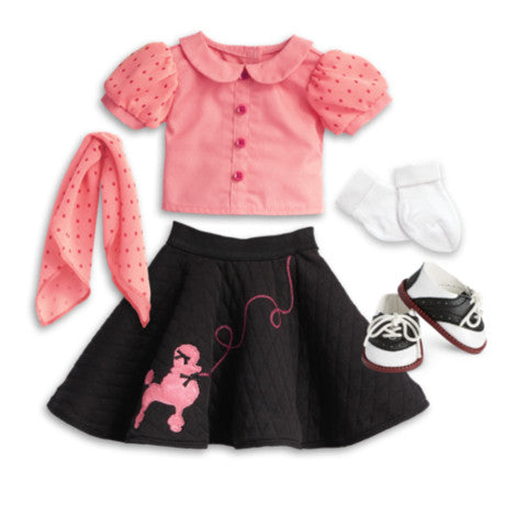 American Girl - Beforever Maryellen - Maryellen's Poodle Skirt Outfit for Dolls