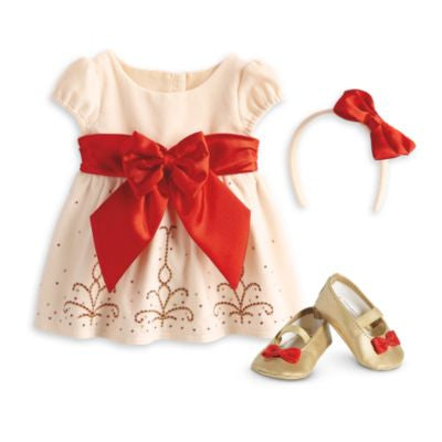 American Girl Bitty Baby - Cream and Crimson Ouftif for Dolls - Bitty Baby 2015