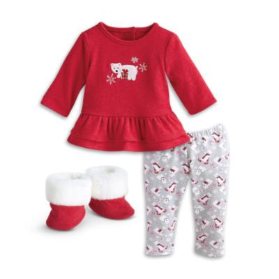 American Girl Bitty Baby - Ruffled Polar Bear Pajamas for dolls  - Bitty Baby 2015