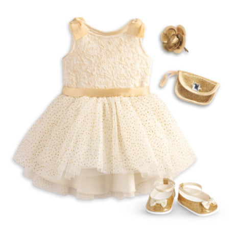 American Girl - Gorgeous Gold Outfit for Dolls - Truly Me 2015