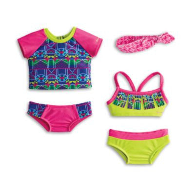 American Girl - Lea Clark - Lea's Mix & Match Swim Set for Dolls - American Girl of 2016