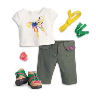 American Girl - Lea Clark - Lea's Rainforest Hike Outfit for Dolls - American Girl of 2016