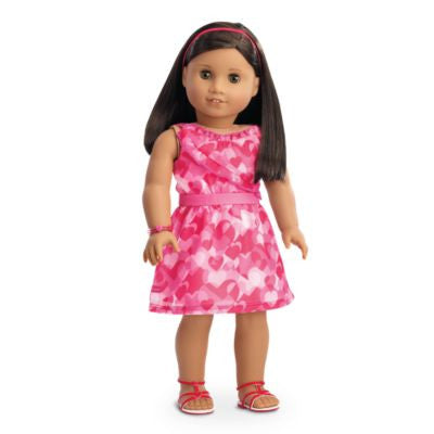 American Girl - Red Hearts Ruffle Outfit for Dolls - Truly Me 2016