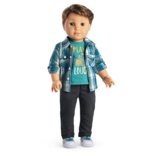 American Girl Logan Doll and Paperback Book