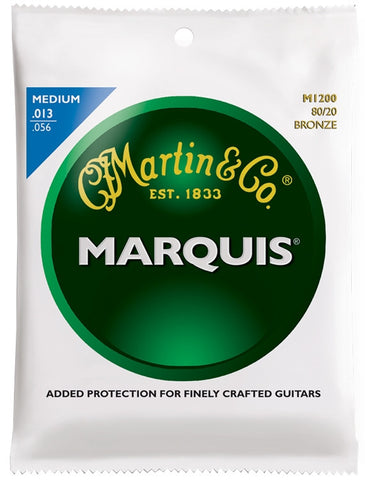 Martin Marquis 80/20 Bronze Acoustic Guitar Strings, Medium (13 - 56) - Set of 4