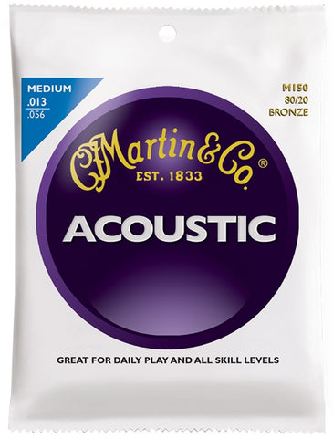 Martin 80/20 Bronze Acoustic Guitar Strings, Medium (13 - 56) - Set of 4