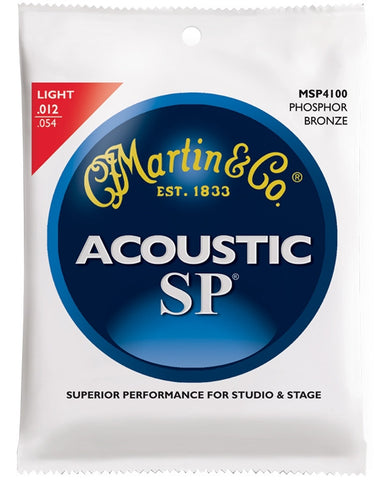 Martin SP Phosphor Bronze Acoustic Guitar Strings, Light (12 - 54) - Set of 4