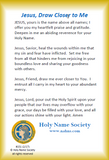 151-100 Draw Closer to Jesus Prayer Card (Pack of 100)