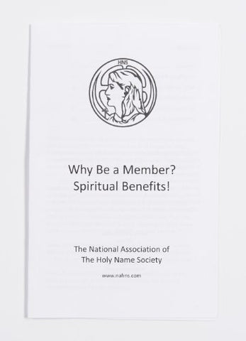125 Why Be a HNS Member? Spiritual Benefits! 10 Pack