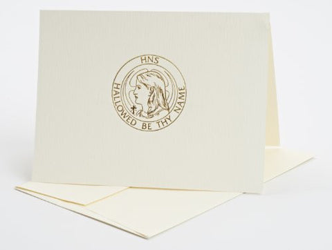 700 Holy Name Sympathy Card with Raised Logo